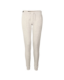 Superdry Womens Grey O L Luxe Lite Edition Slim Jogger