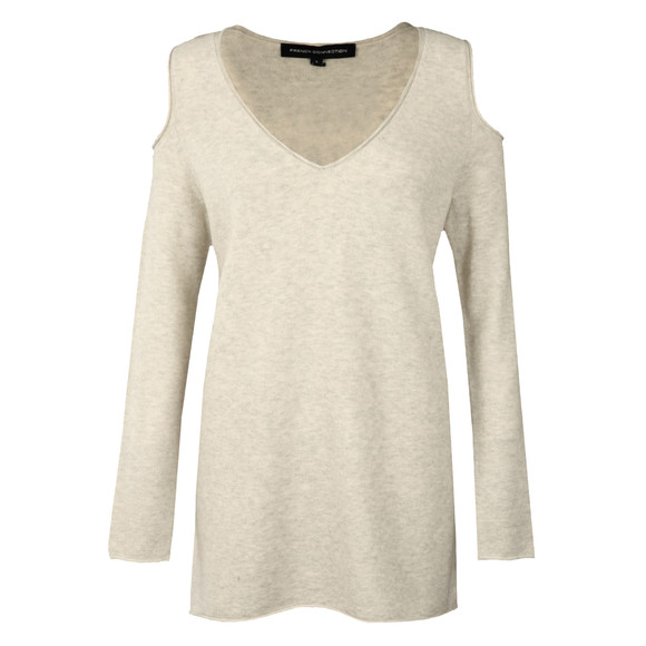 French Connection Womens Grey Venture Vhari Cold Shoulder Jumper main image