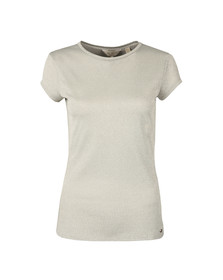 Ted Baker Womens Grey Misy Sparkle Fitted Tee