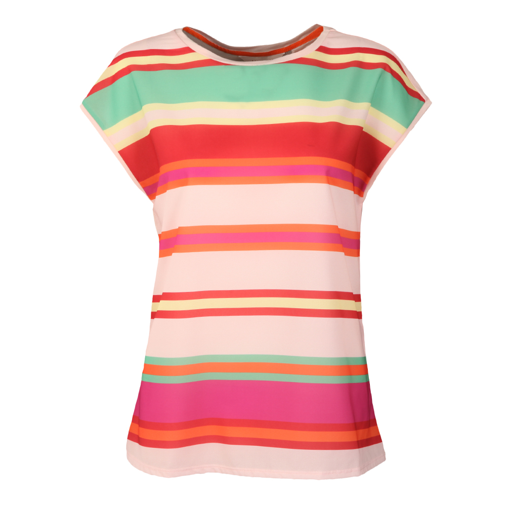 Thedre Pier Stripe Woven Front Tee main image
