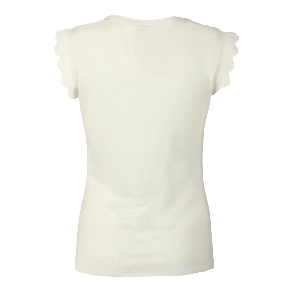 Scallop Detail Fitted Tee main image