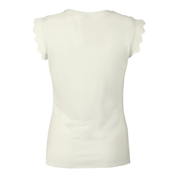 Ted Baker Womens Green Scallop Detail Fitted Tee main image