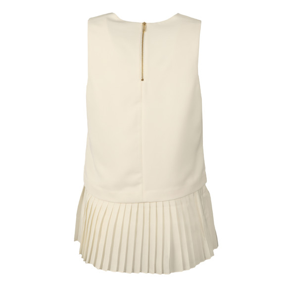 Ted Baker Womens Off-White Oriya Pleat Hem V Neck Top main image