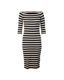 Superdry Womens Blue Breton Wrap Dress