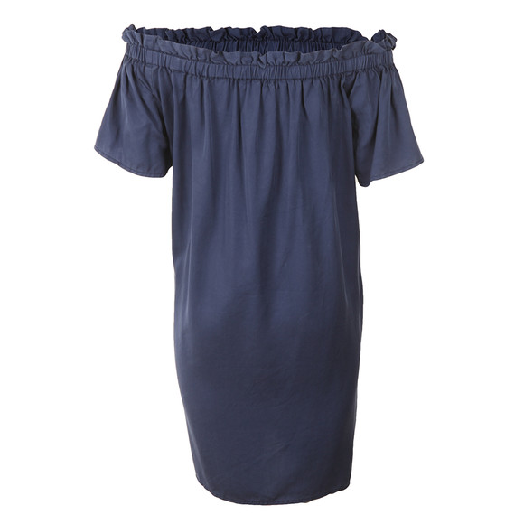 French Connection Womens Blue Stayton Ruffle Off Shoulder Dress main image
