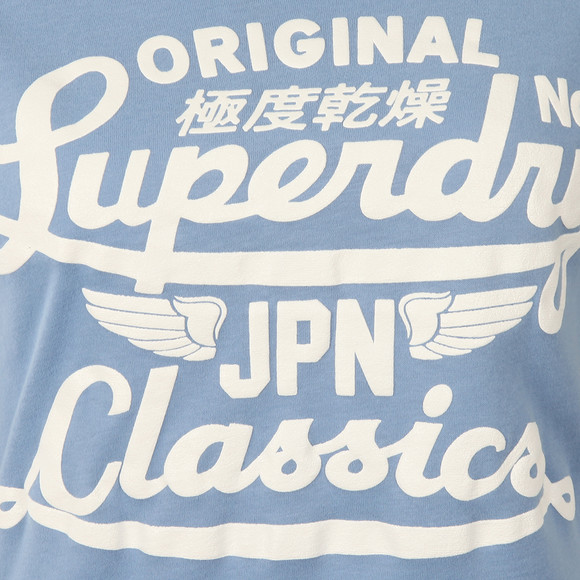 Superdry Womens Blue Icarus Duo Entry Tee main image