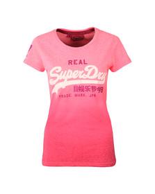 Superdry Womens Pink Vintage Logo Snowy Tee