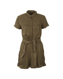 Superdry Womens Green Boho Utility Playsuit