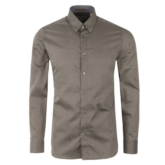 Ted Baker Mens Black  Tidal L/S Dome Printed Shirt main image