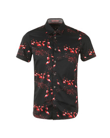 Ted Baker Mens Blue S/S Flamingo Print Shirt