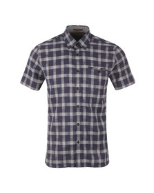 Ted Baker Mens Blue S/S Checked Shirt