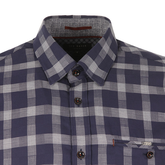 Ted Baker Mens Blue S/S Checked Shirt main image