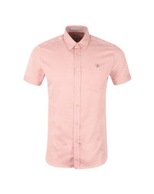 Ted Baker Mens Pink Munkee S/S Diamond Print Shirt