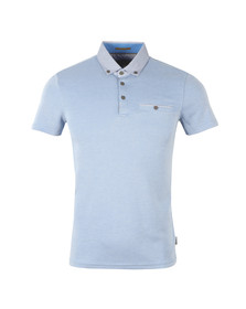 Ted Baker Mens Blue S/S Woven Collar Polo