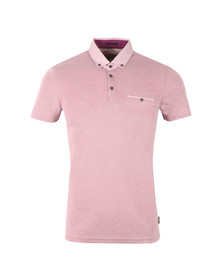 Ted Baker Mens Purple S/S Woven Collar Polo