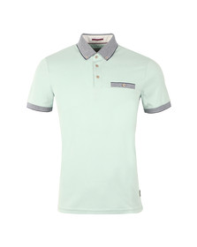 Ted Baker Mens Green S/S Oxford Polo