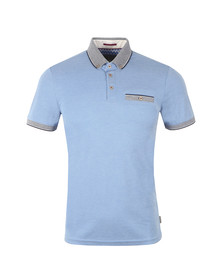 Ted Baker Mens Blue S/S Oxford Polo