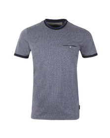 Ted Baker Mens Blue Richie Crew Neck Tee