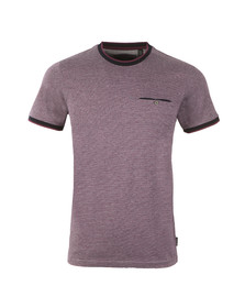 Ted Baker Mens Purple Richie Crew Neck Tee