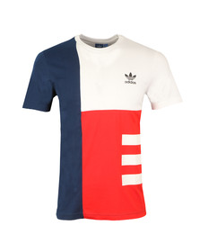 Adidas Originals Mens White S/S Panel Wars Tee