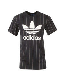Adidas Originals Mens Blue S/S Pinstripe Tee