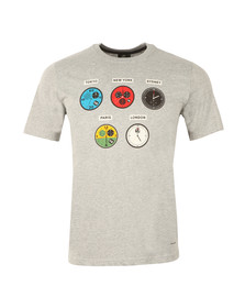 Paul Smith Mens Grey Regular Watches T Shirt