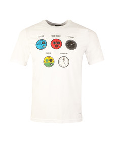 Paul Smith Mens White Regular Watches T Shirt