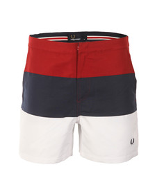 Fred Perry Mens Red Swim Shorts S1505