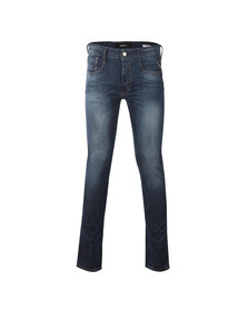 Replay Mens Blue Anbass Slim Jeans