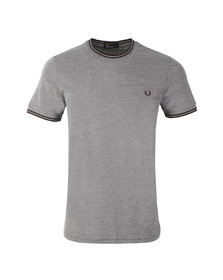Fred Perry Mens Blue Twill Jersey T-Shirt