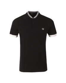 Fred Perry Mens Blue Bomber Collar Polo Shirt