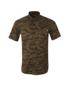Carhartt Mens Brown Short Sleeve Camo Tiger Shirt