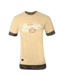 Cayler Mens Beige Defend BK Long Layer Tee
