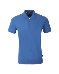 Aquascutum Mens Blue Hector CC Pique Polo Shirt