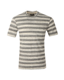 Paul Smith Mens Grey Regular Stripe Pocket T Shirt