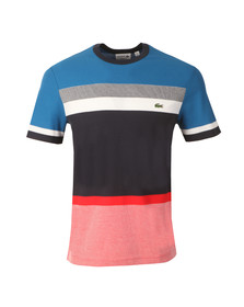 Lacoste Mens Multicoloured TH1928 Block Stripe Tee