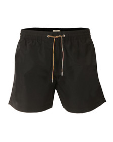 Paul Smith Mens Black Classic Plain Swim Shorts