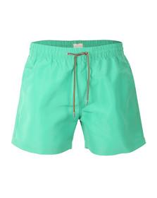 Paul Smith Mens Green Classic Plain Swim Shorts