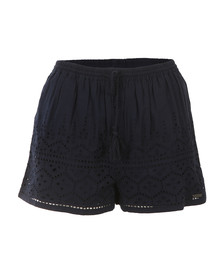 Superdry Womens Blue Pier Schiffli Short
