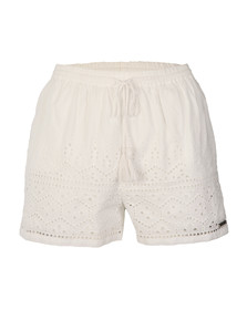 Superdry Womens White Pier Schiffli Short