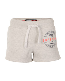 Superdry Womens Grey Track & Field Sweat Short