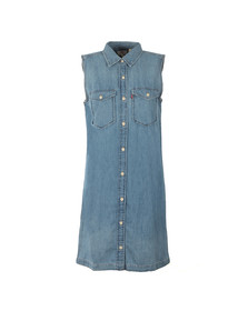 Levi's Womens Blue 70s Western Dress