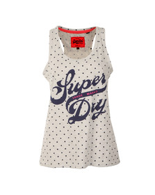 Superdry Womens Grey Trade Markd Entry Vest