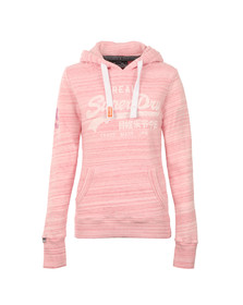 Superdry Womens Pink Vintage Logo Injected Jersey Hoody