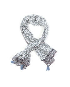 Maison Scotch Womens White Cotton Scarf
