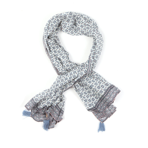 Maison Scotch Womens White Cotton Scarf main image