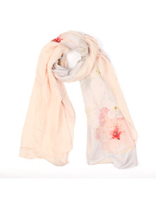Ted Baker Womens Grey Oprah Oriental Bloom Split Scarf