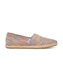 Toms Womens Multicoloured Blue Aster Space Dye Espadrille