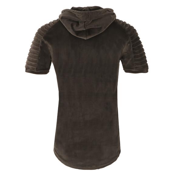 Project X Paris Mens Grey Pleat Velour Short Sleeve Hoody main image