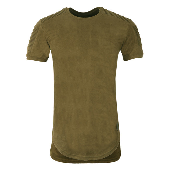Project X Paris Mens Green Suede Ribbed T Shirt main image